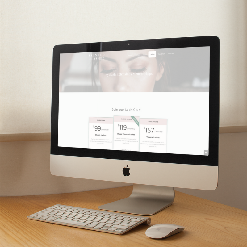 web designer for salons