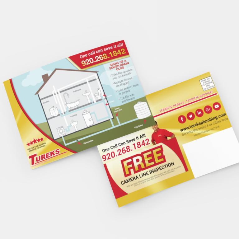 contractor postcard design