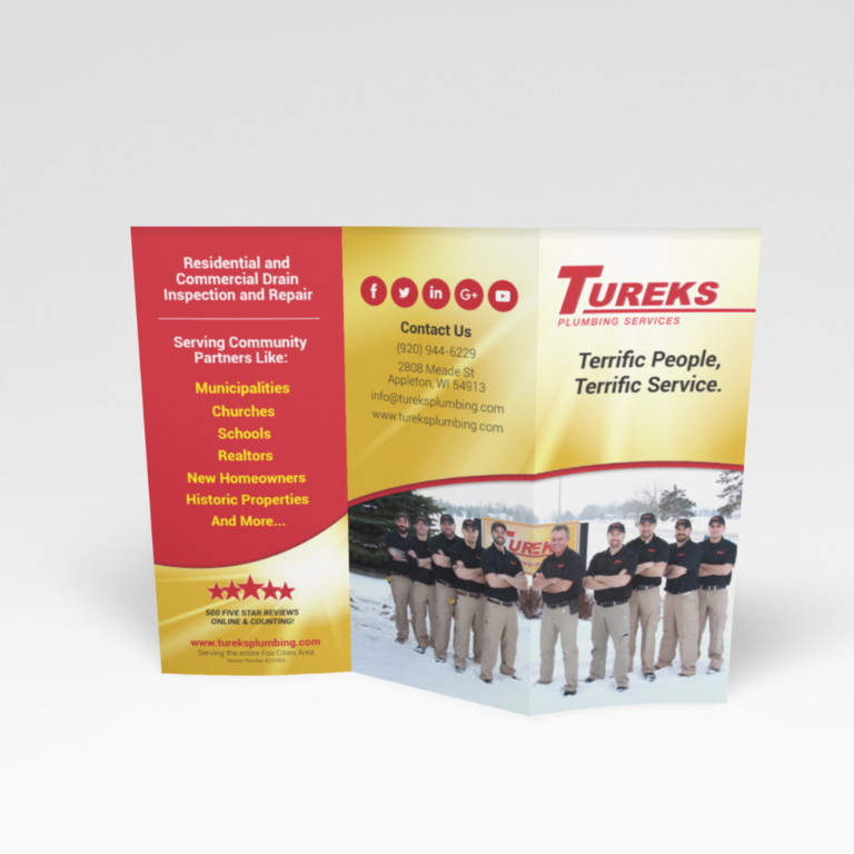 tri fold marketing plumbers