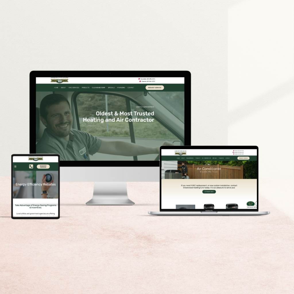 heating and air web design