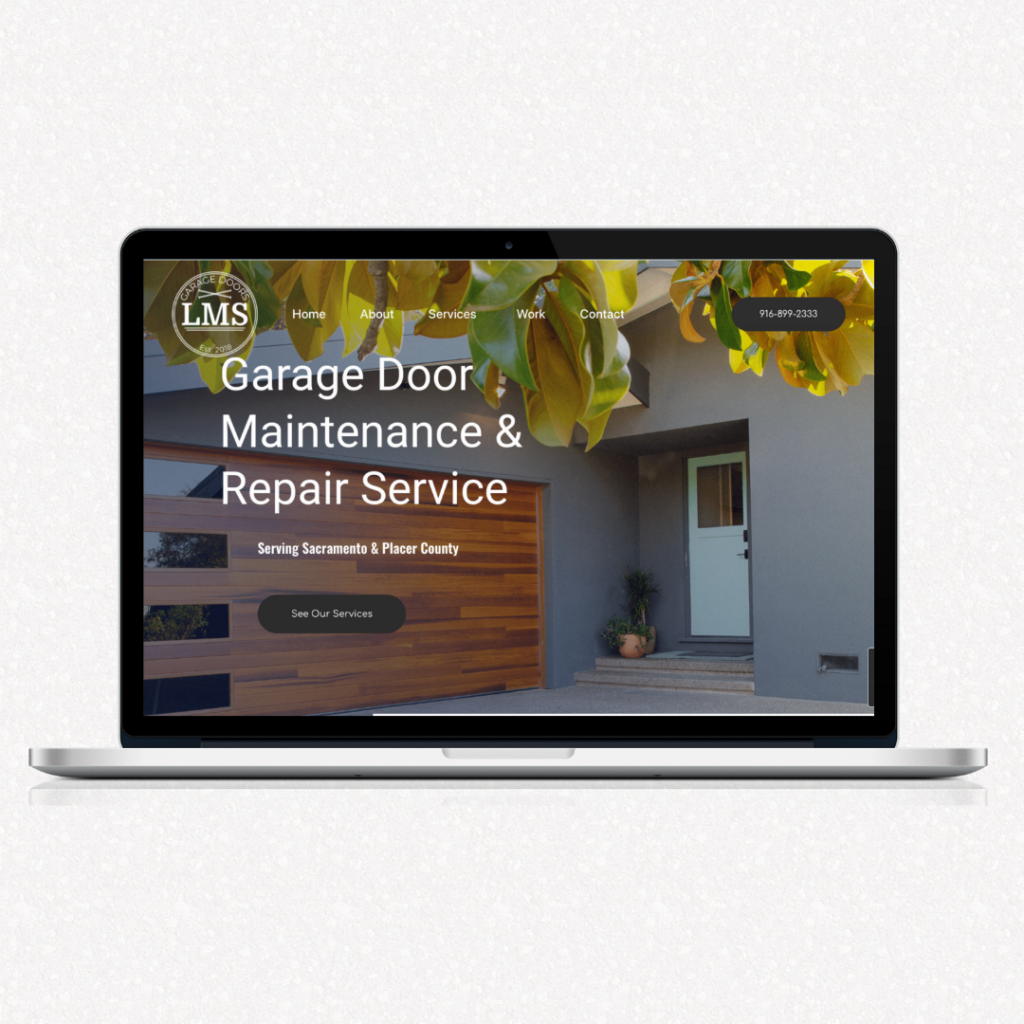 garage door company web designer